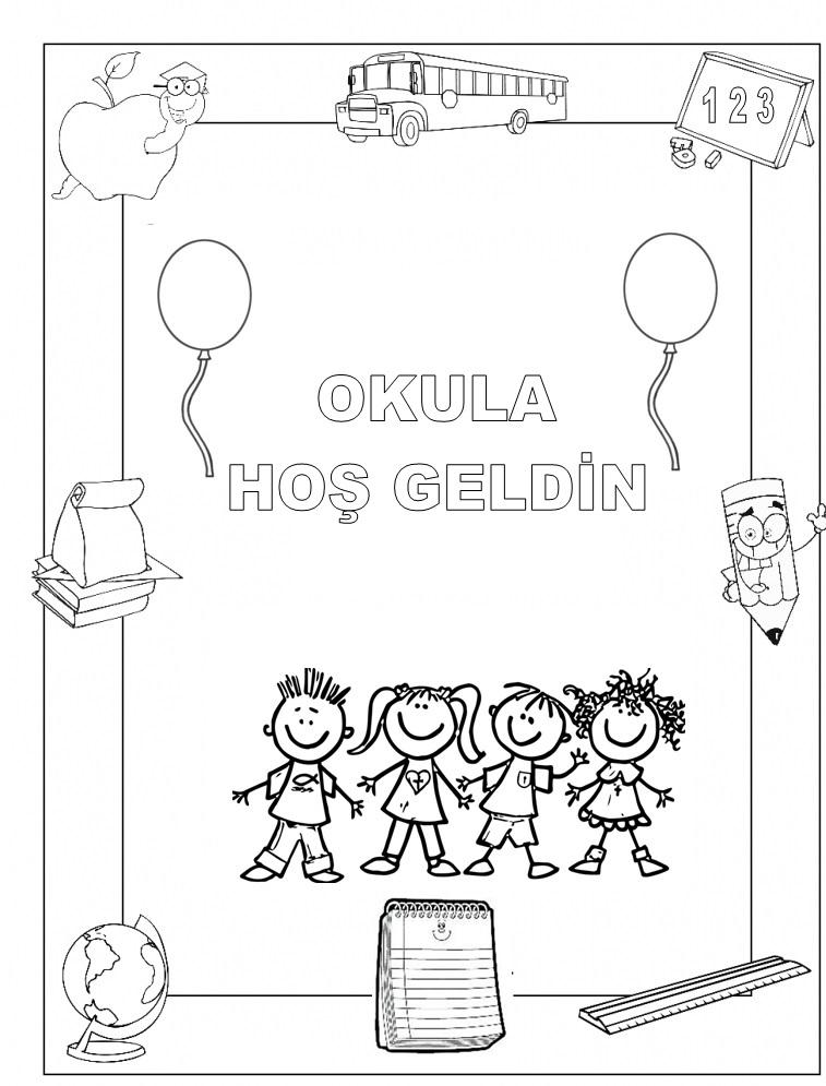 Anasınıfı Ilk Günler Için Boyama Sayfası Preschool Activity