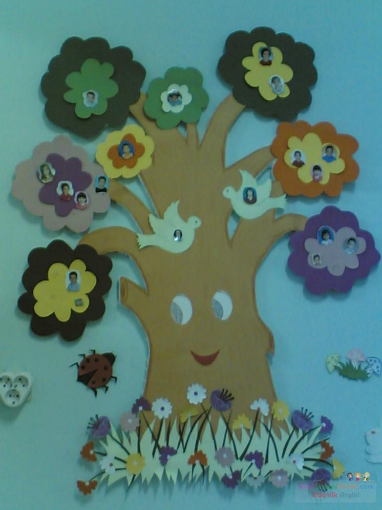 3 Boyutlu Ağaç Preschool Activity