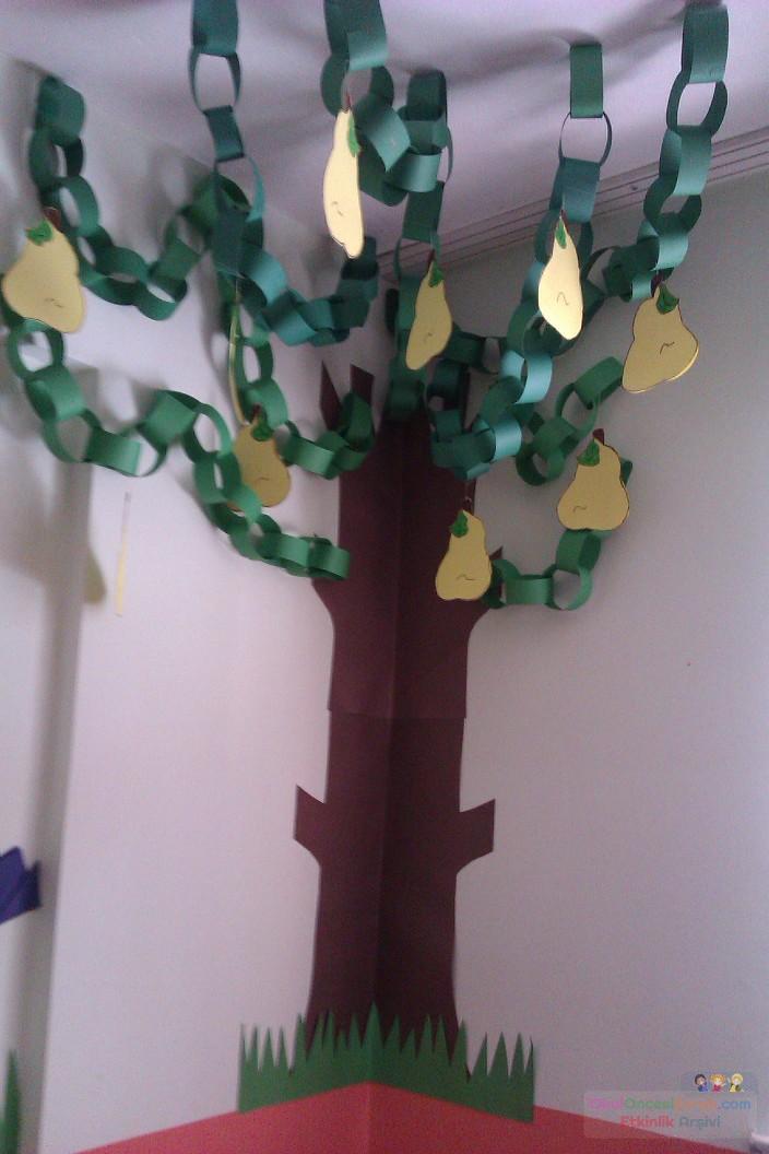 3 Boyutlu Ağaç Armut Preschool Activity