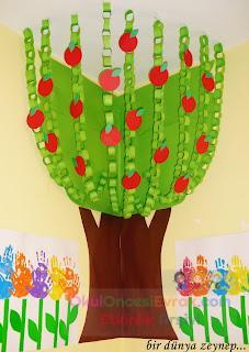 3 Boyutlu Ağaç Elma Ağacı Preschool Activity