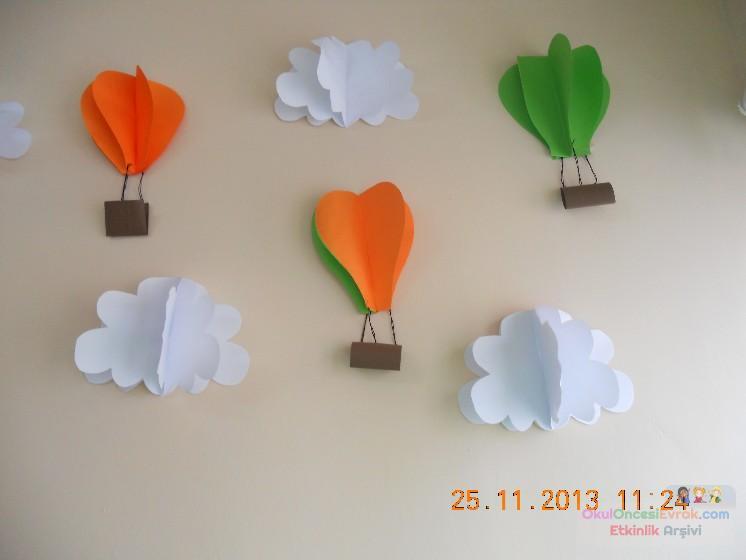 Uçan Balonlar Duvar Süsü Preschool Activity