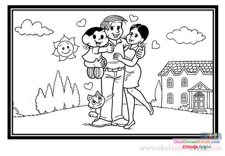 Aile Boyama 1 Preschool Activity