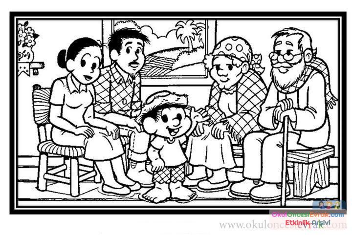 Aile Boyama 6 Preschool Activity
