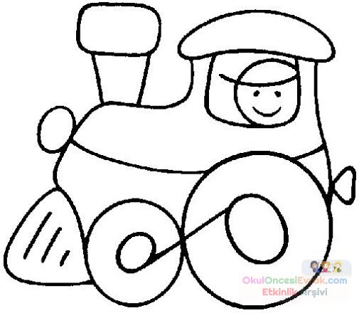 Anasınıfı Tren Boyama Preschool Activity