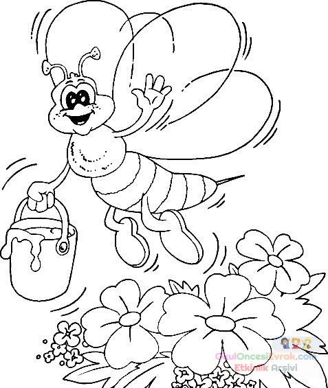 Arı Hayvanlar Boyama 23 Preschool Activity
