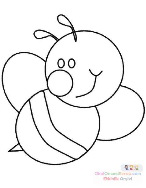 Arı Hayvanlar Boyama 24 Preschool Activity