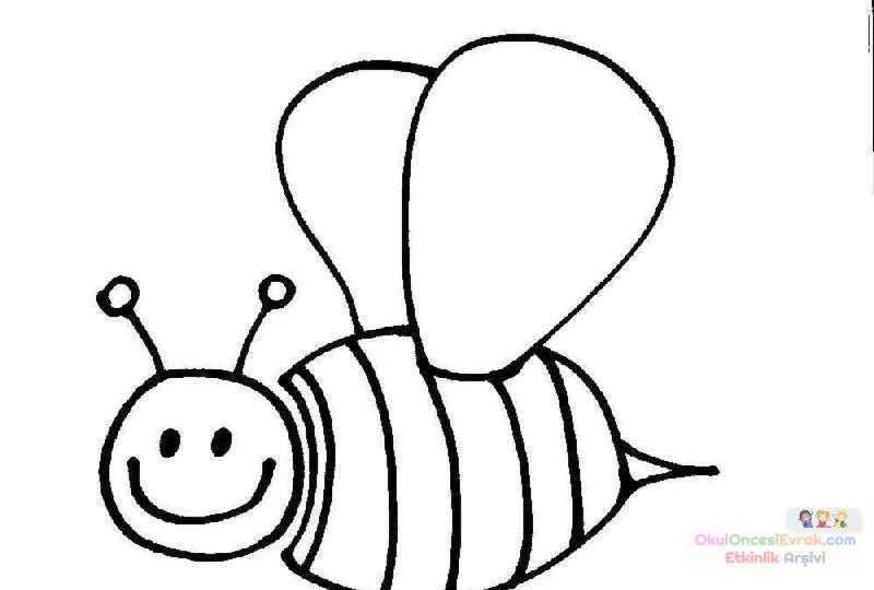 Arı Hayvanlar Boyama 57 Preschool Activity