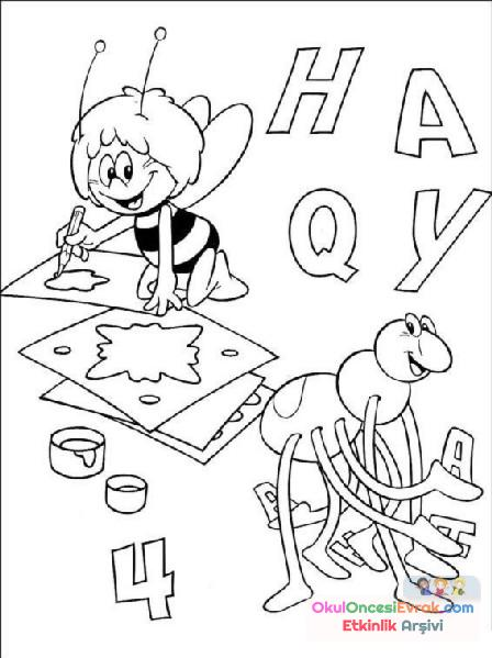 Arı Maya Boyama 2 Preschool Activity