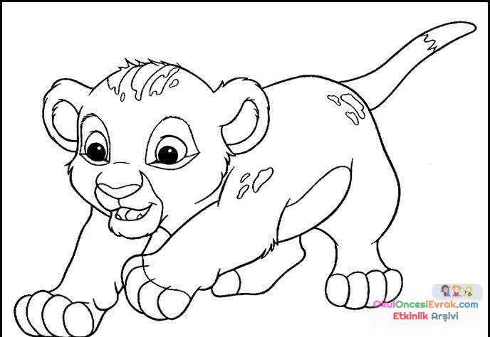 Aslan Kral Boyama 16 Preschool Activity