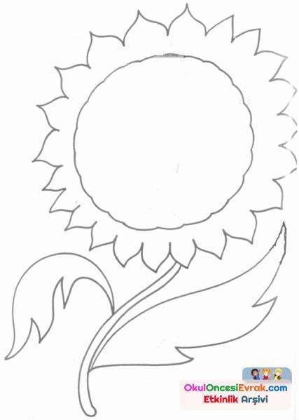 Ay çiçeği Boyama Preschool Activity