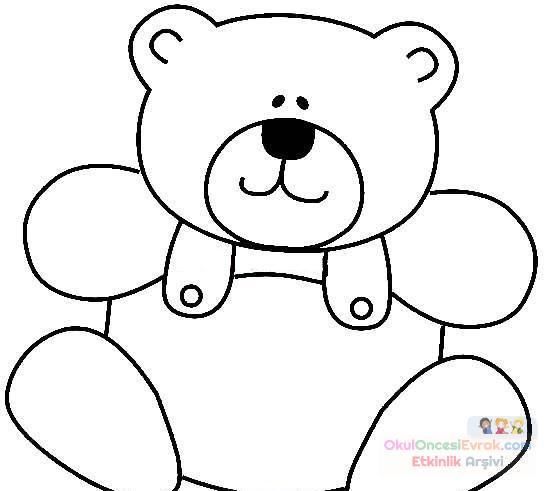 Bebek Ve Ayıcık Boyama Sayfası