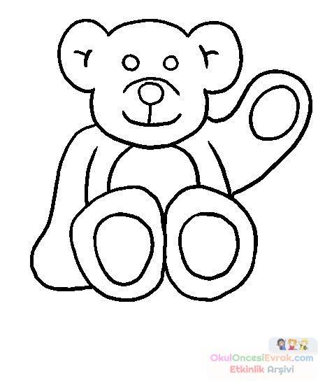 Ayıcık Hayvanlar Boyama 9 Preschool Activity