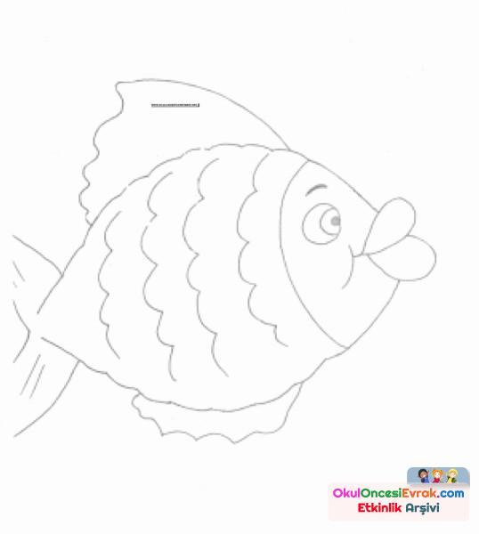 Balık Boyama 2 Preschool Activity