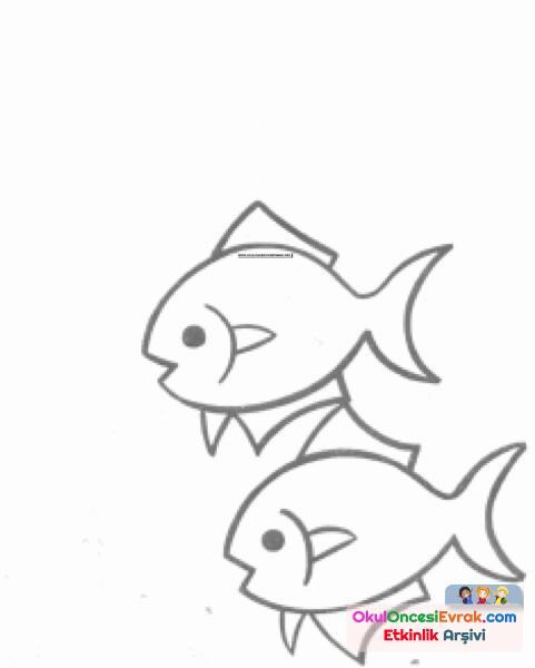 Balık Boyama Preschool Activity