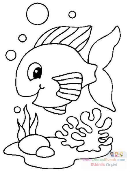 Balık Hayvanlar Deniz Canlıları Boyama 31 Preschool Activity