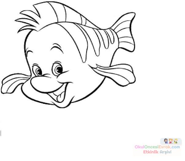 Balık Hayvanlar Deniz Canlıları Boyama 6 Preschool Activity