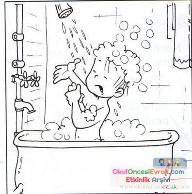 Banyo Malzemeleri 4 Preschool Activity