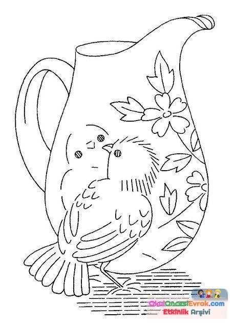 Bardak çaydanlıkçatalbiçak Boyama Sayfası111 Preschool Activity