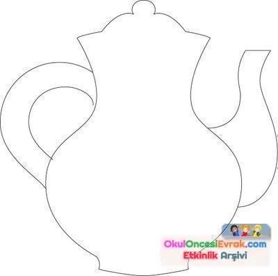 Bardak çaydanlıkçatalbiçak Boyama Sayfası123 Preschool Activity