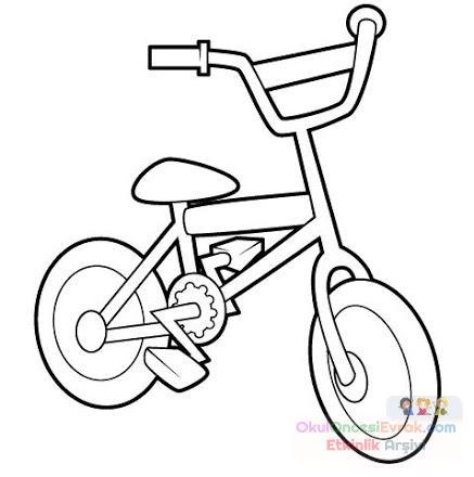 Bisiklet Boyama Preschool Activity