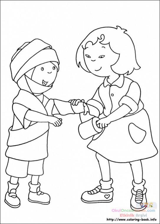 Caillou Boyama Resimleri Caillou Boyama Sayfaları Preschool Activity
