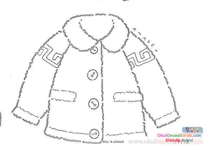 Ceket Boyama 2 Preschool Activity