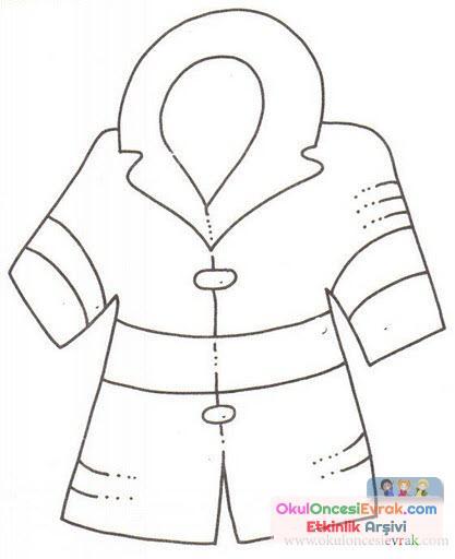 Ceket Boyama 3 Preschool Activity