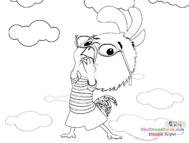 Cesur Civciv Boyama 8 Preschool Activity