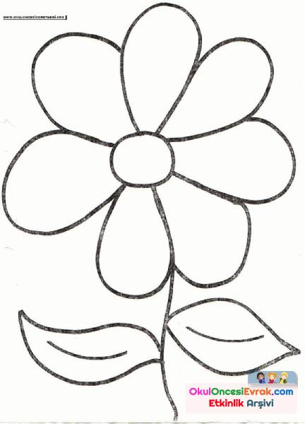 çiçek Boyama 3 Preschool Activity