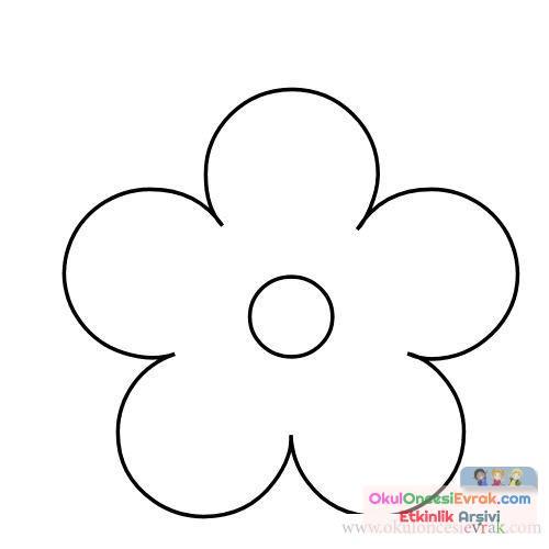 çiçek Kalıpları 14 Preschool Activity