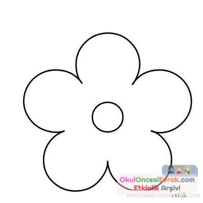 çiçek Kalıpları 3 Preschool Activity