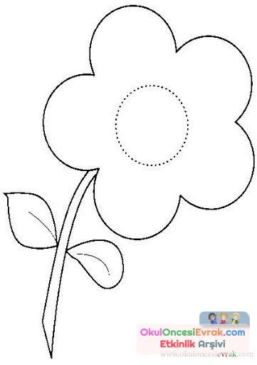 çiçek Kalıpları 44 Preschool Activity