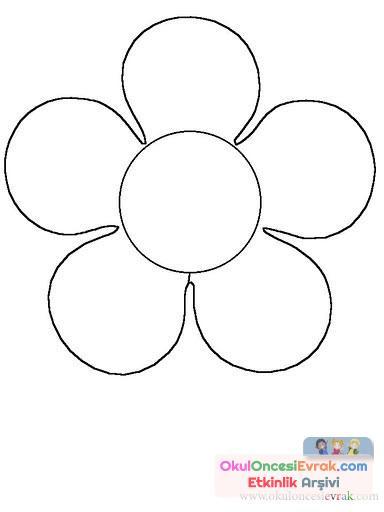 çiçek Kalıpları 9 Preschool Activity
