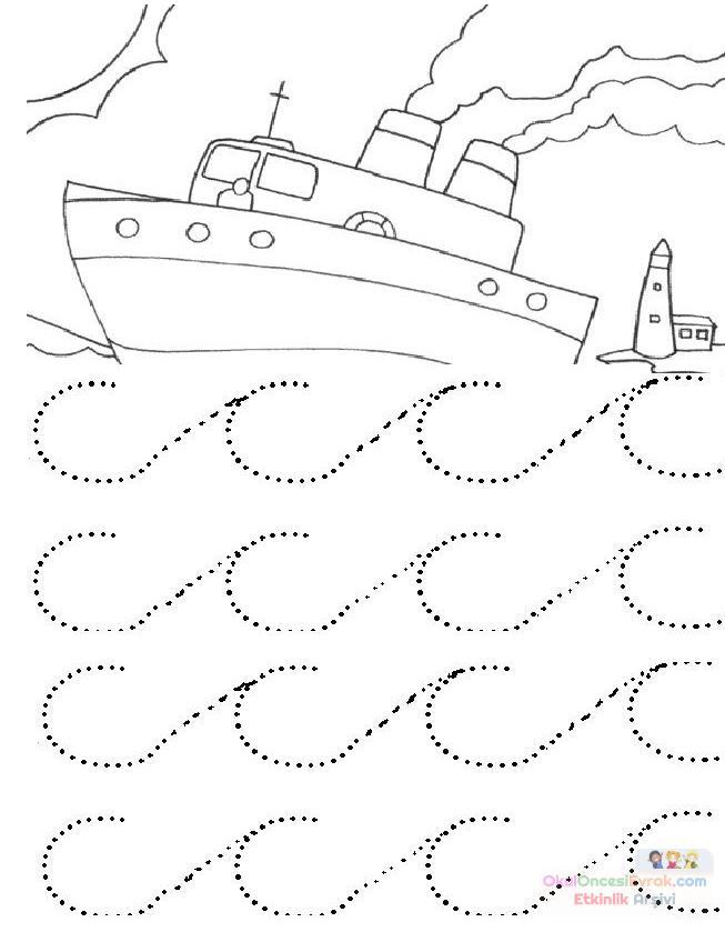çizgi çalışması 11 Preschool Activity