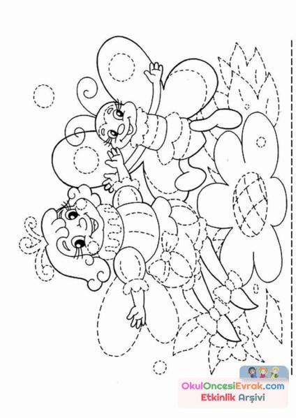 çizgi çalışması Boyama Preschool Activity