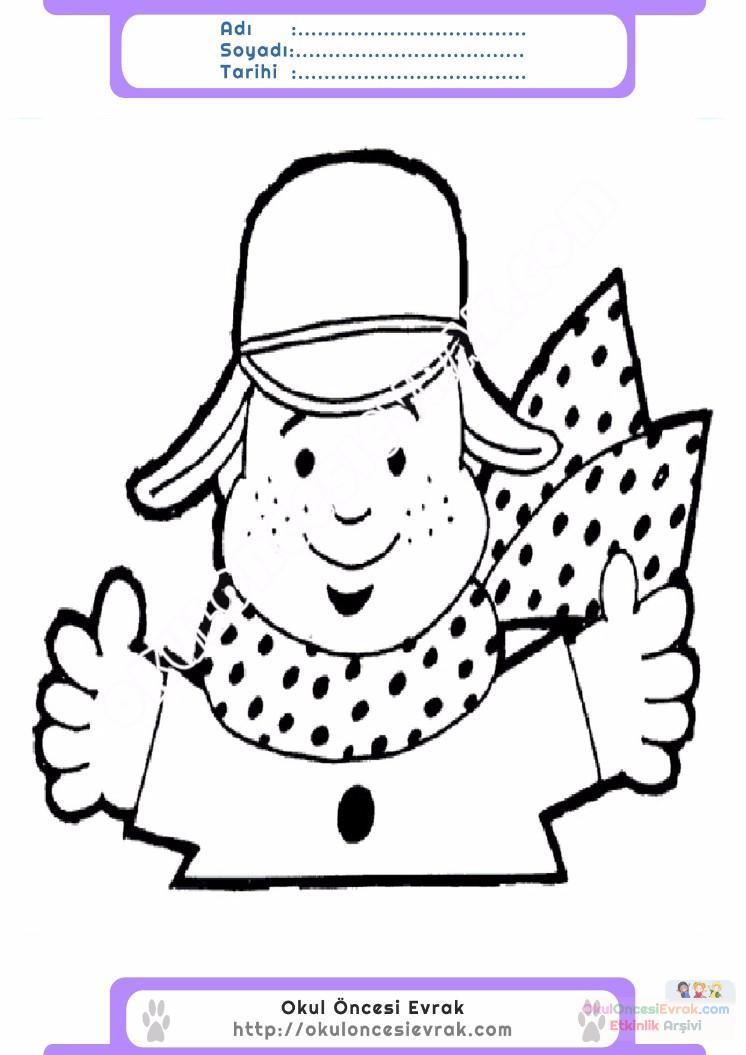 çocuklar Için Atkı Kıyafet Giysi Boyama Sayfası 8 Preschool Activity