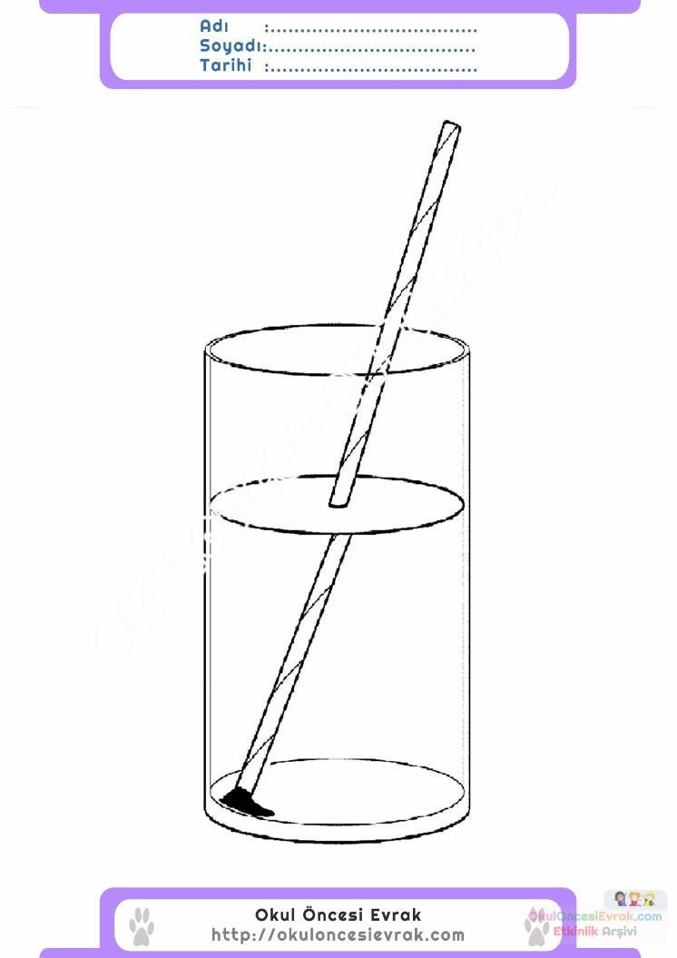Dökülmeyen Su Deney Okul öncesi Etkinlik Kirtkirtla