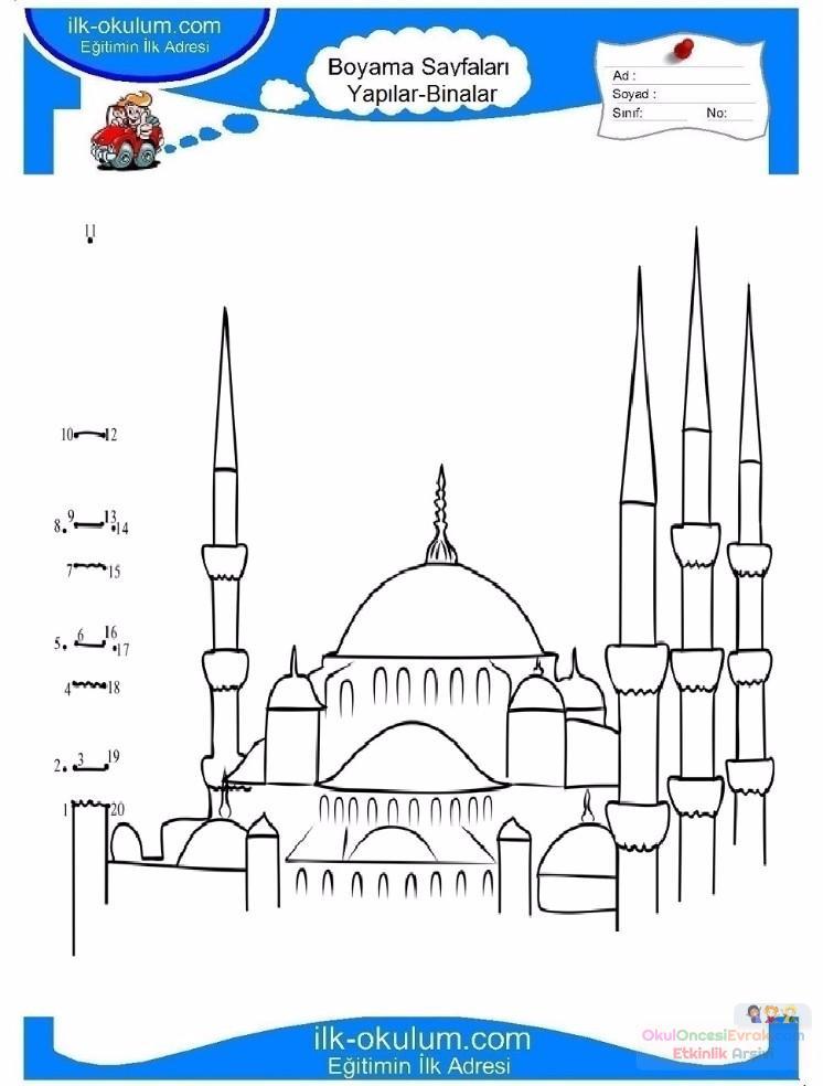 Camii Boyama Resmi Coloring Free To Print