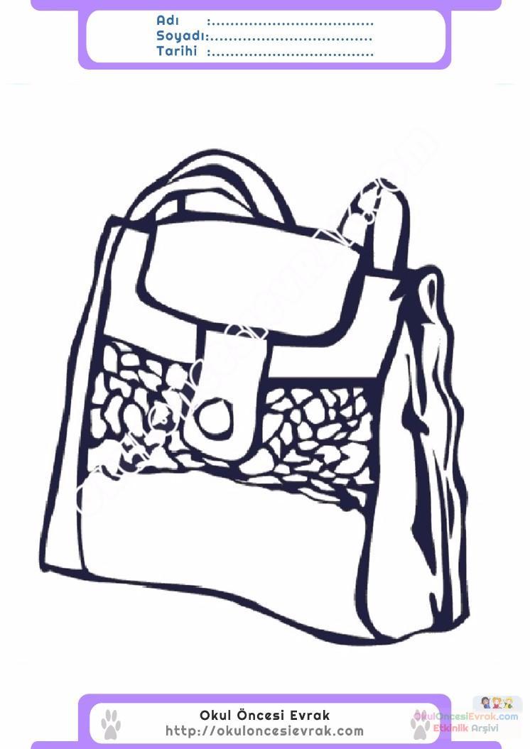 çocuklar Için çanta Kıyafet Giysi Boyama Sayfası 2 Preschool Activity