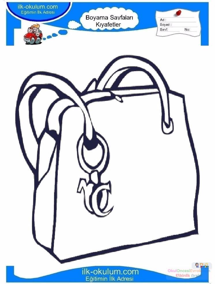 çocuklar Için çanta Kıyafet Giysi Boyama Sayfası 6 Preschool Activity