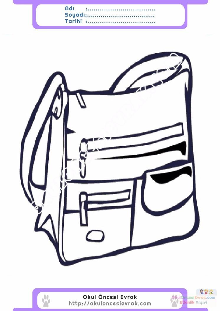çocuklar Için çanta Kıyafet Giysi Boyama Sayfası 7 Preschool Activity