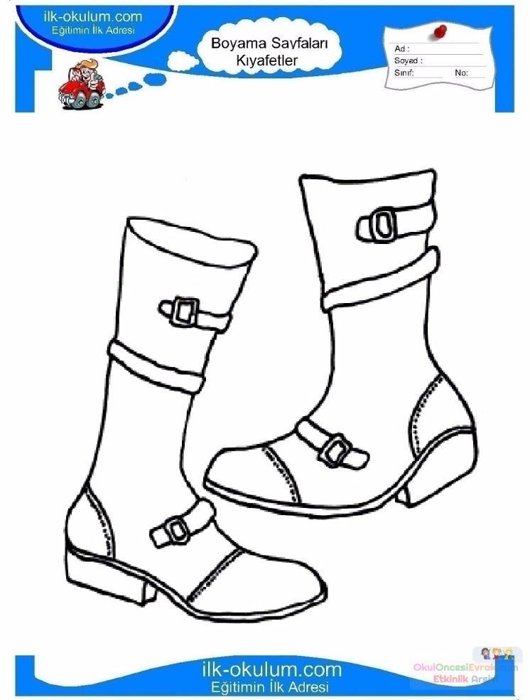 çocuklar Için çizme Kıyafet Giysi Boyama Sayfası 13 Preschool Activity