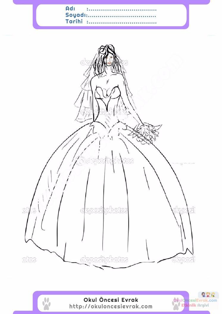 çocuklar Için Elbise Kıyafet Giysi Boyama Sayfası 10 Preschool