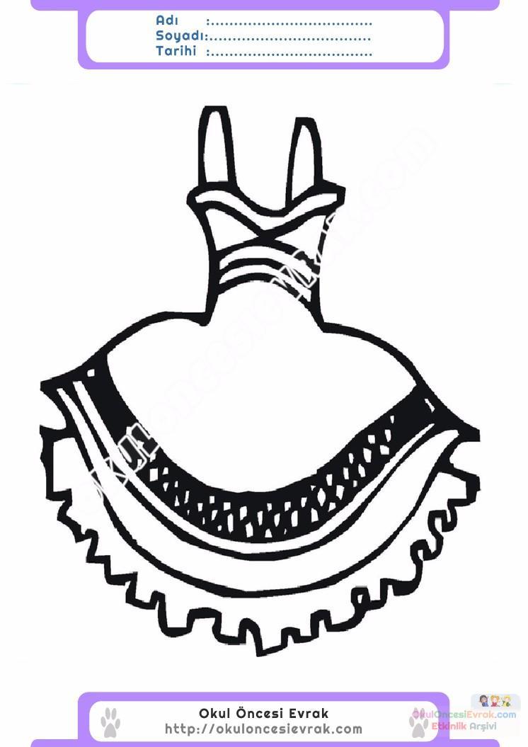 Best Of Elbise Boyama Sayfasi Okulonce
