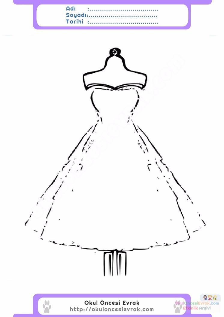 çocuklar Için Elbise Kıyafet Giysi Boyama Sayfası 9 Preschool Activity