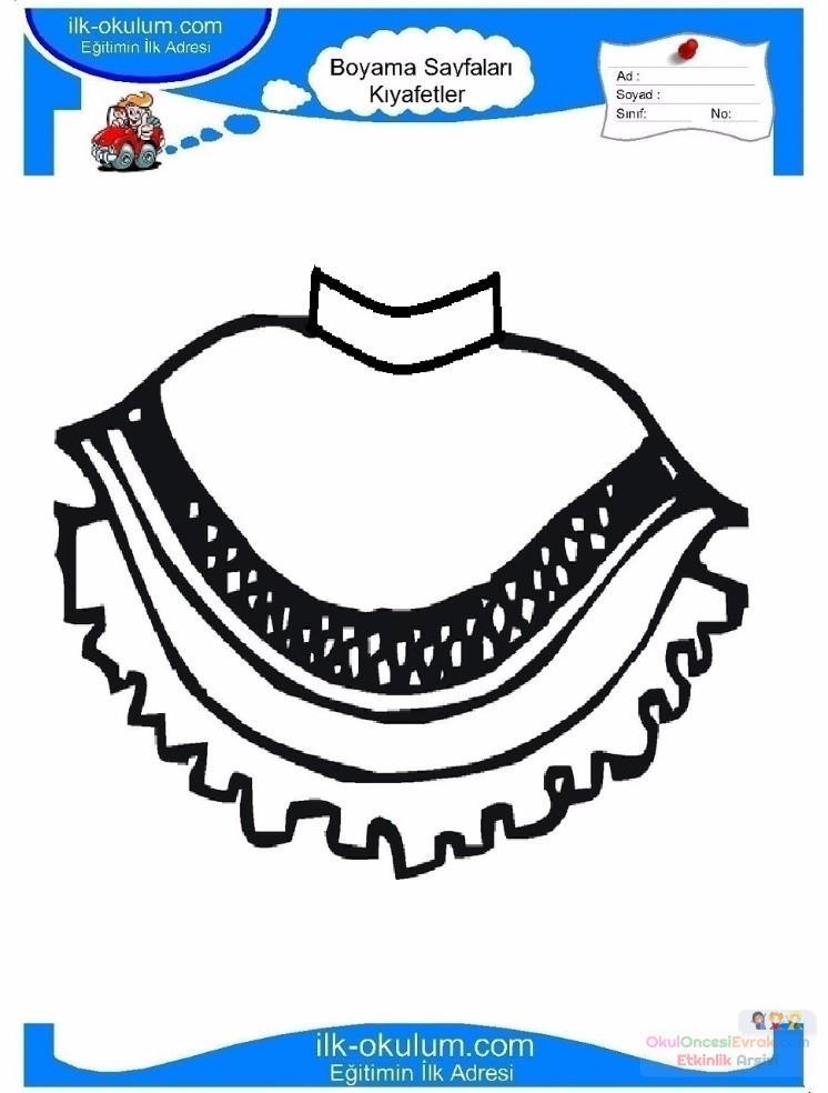 çocuklar Için Etek Kıyafet Giysi Boyama Sayfası 18 Preschool Activity