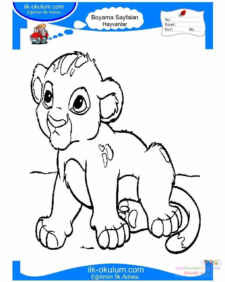 çocuklar Için Hayvan Aslan Boyama Sayfası 31 Preschool Activity