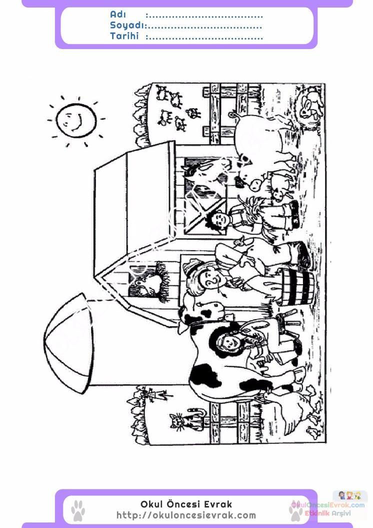 çocuklar Için Hayvan çiftlik Hayvanları Boyama Sayfası 22