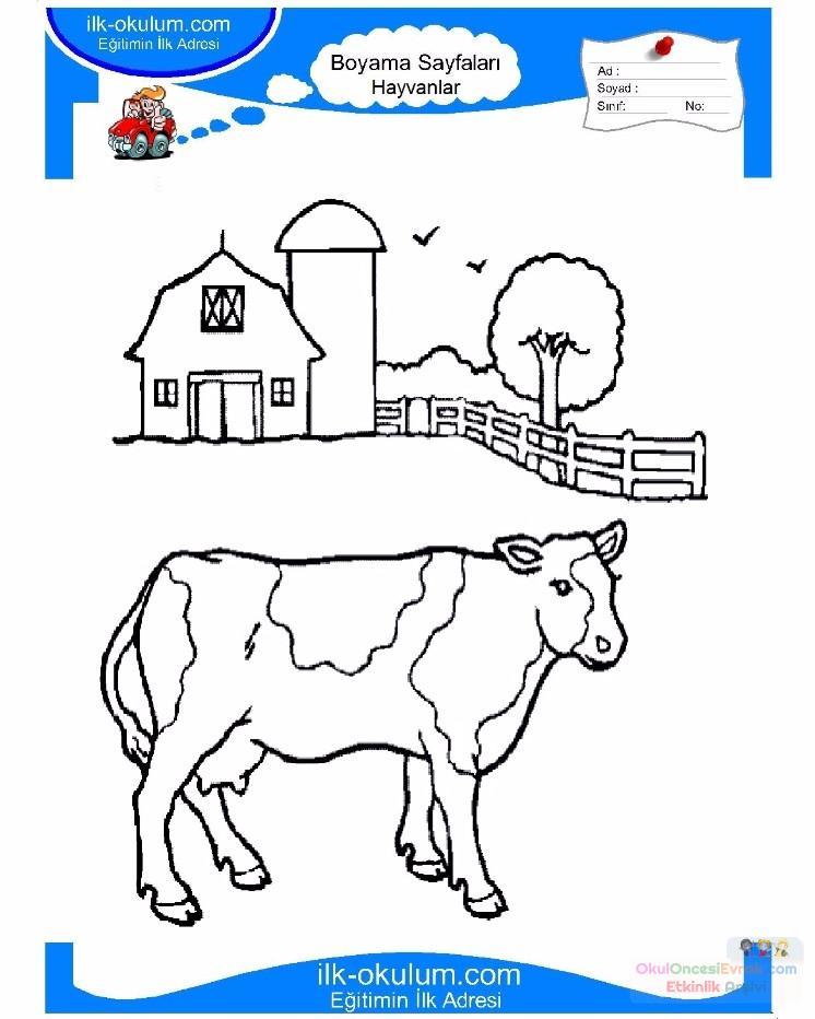 çocuklar Için Hayvan çiftlik Hayvanları Boyama Sayfası 26