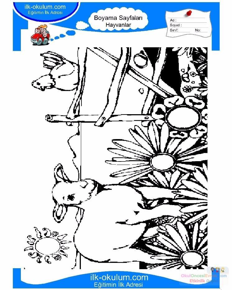 çocuklar Için Hayvan çiftlik Hayvanları Boyama Sayfası 62